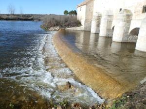 Nivel de agua en Molemocho del Guadiana